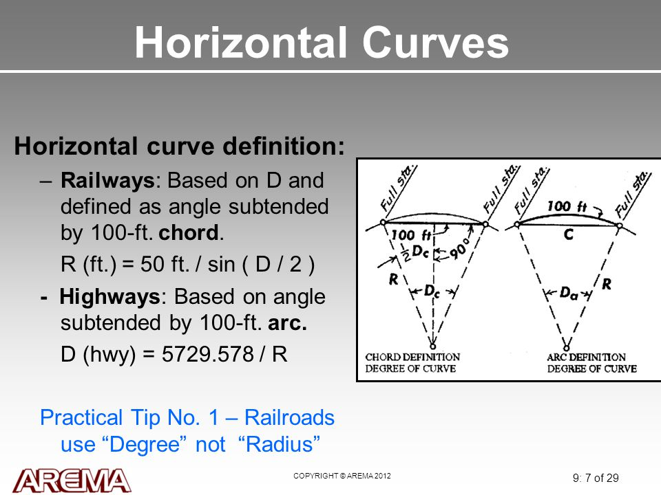 Horizontal Curves Horizontal curve definition: