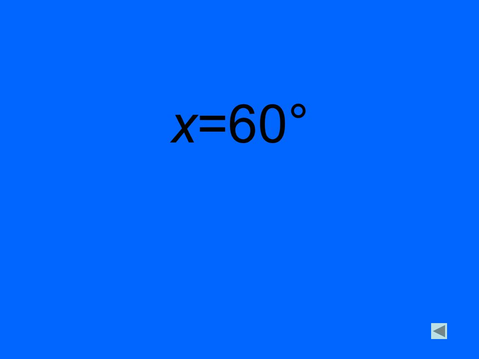 x=60°