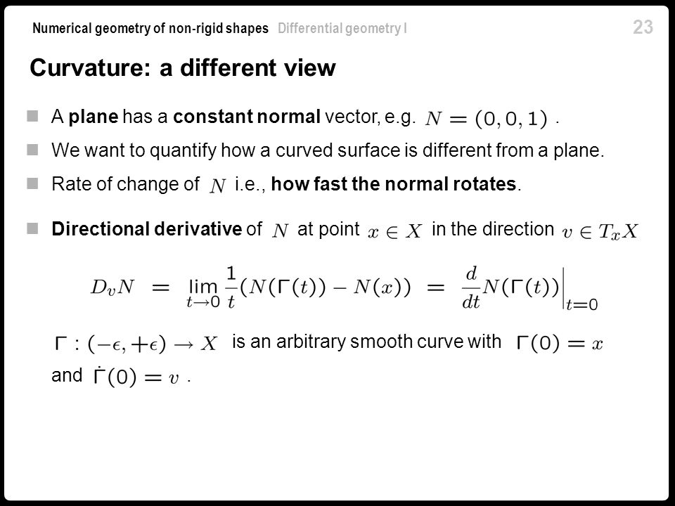 Curvature: a different view