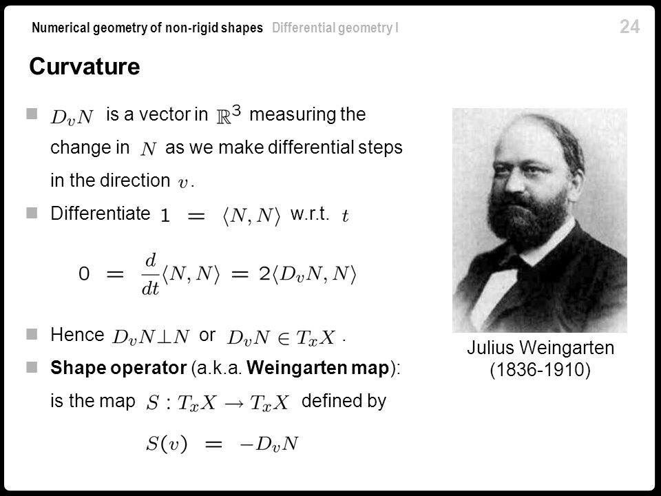 Curvature is a vector in measuring the