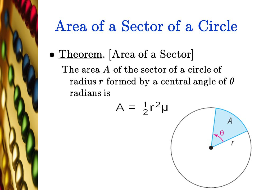 Area of a Sector of a Circle