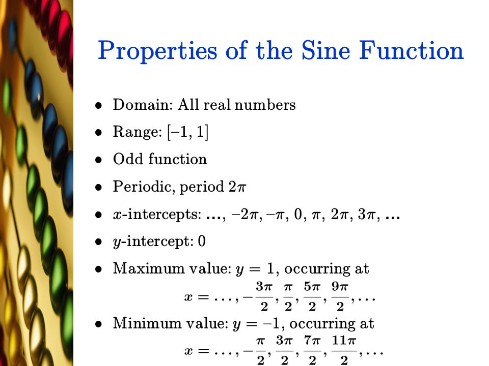 Properties of the Sine Function