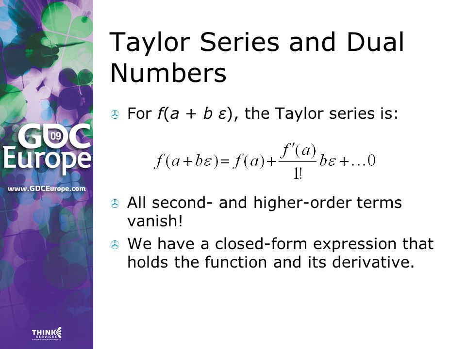 Taylor Series and Dual Numbers