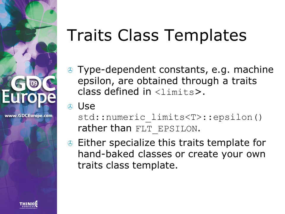 Traits Class Templates