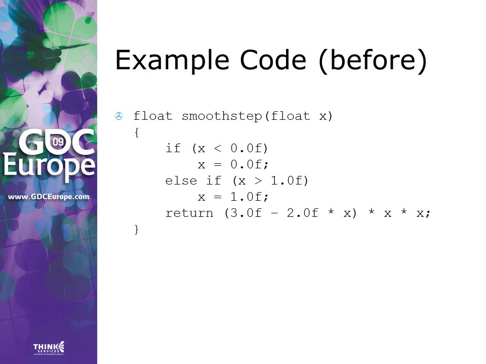 Example Code (before)