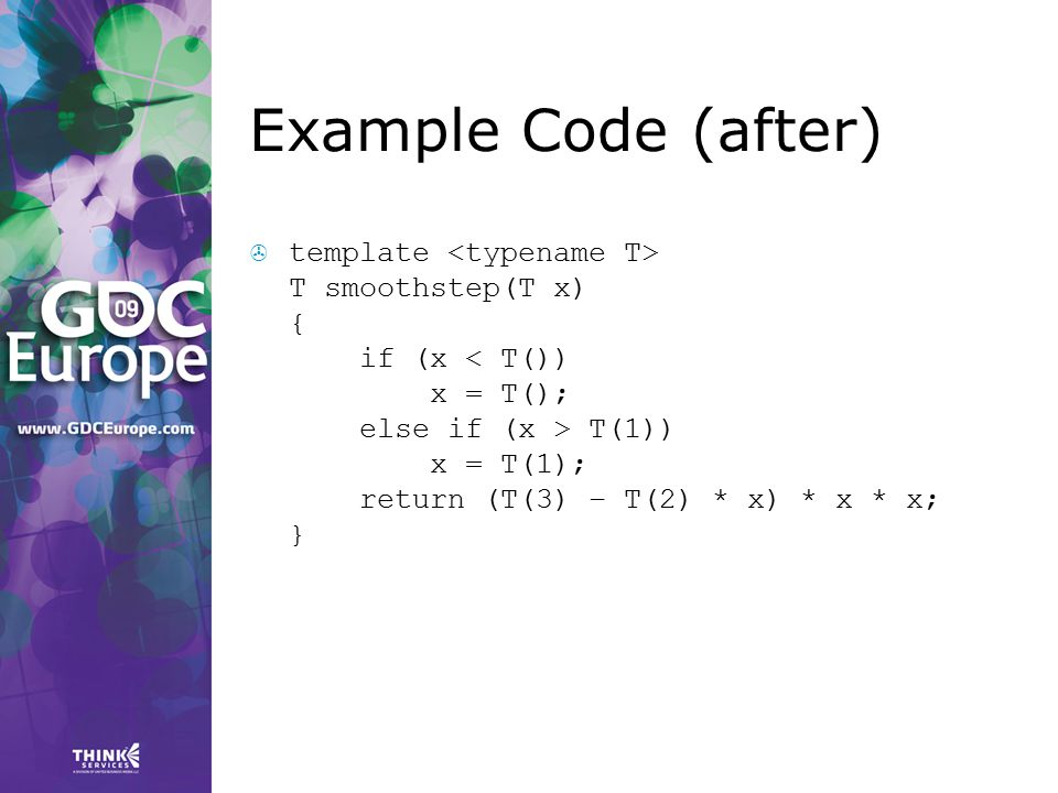 Example Code (after)