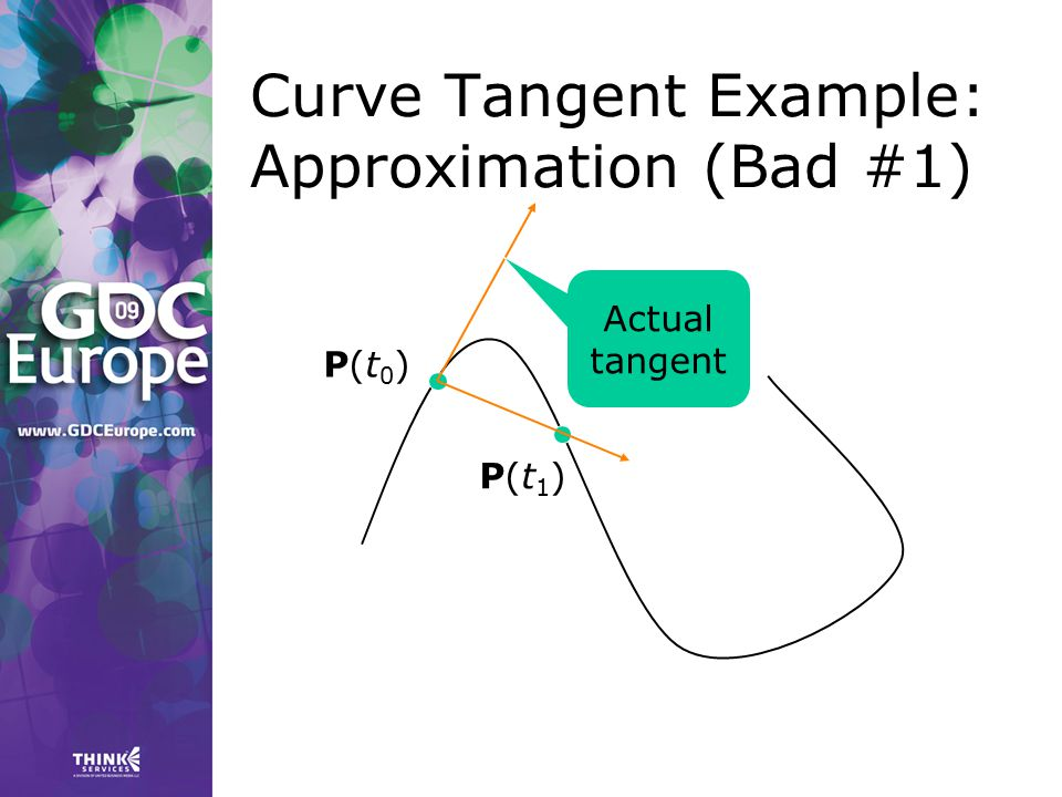 Curve Tangent Example: Approximation (Bad #1)