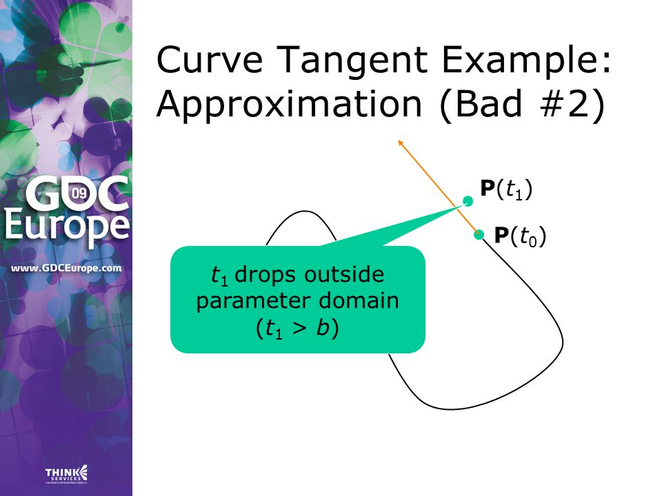 Curve Tangent Example: Approximation (Bad #2)
