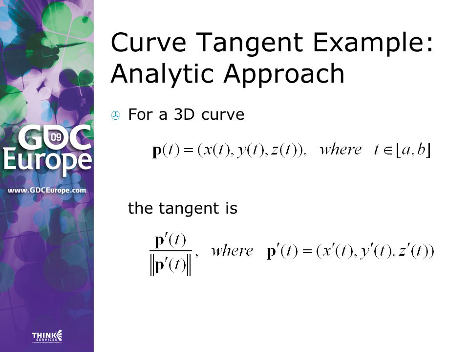 Curve Tangent Example: Analytic Approach