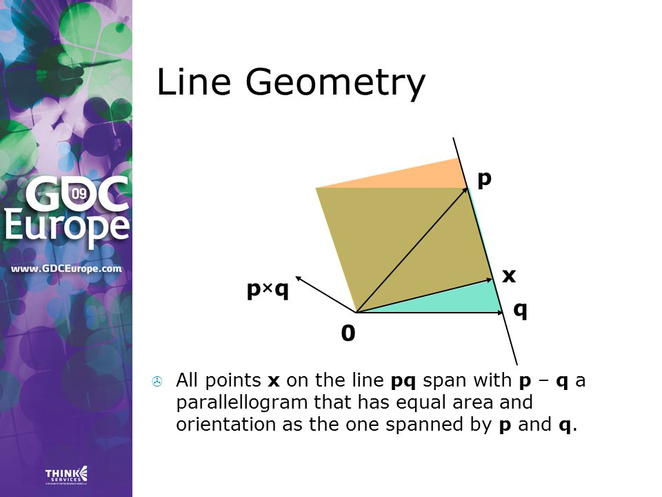 Line Geometry p. x. p×q. q.