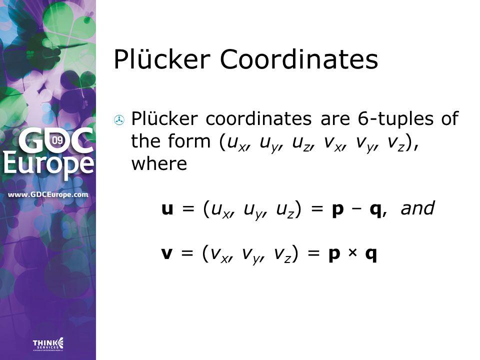 Plücker Coordinates