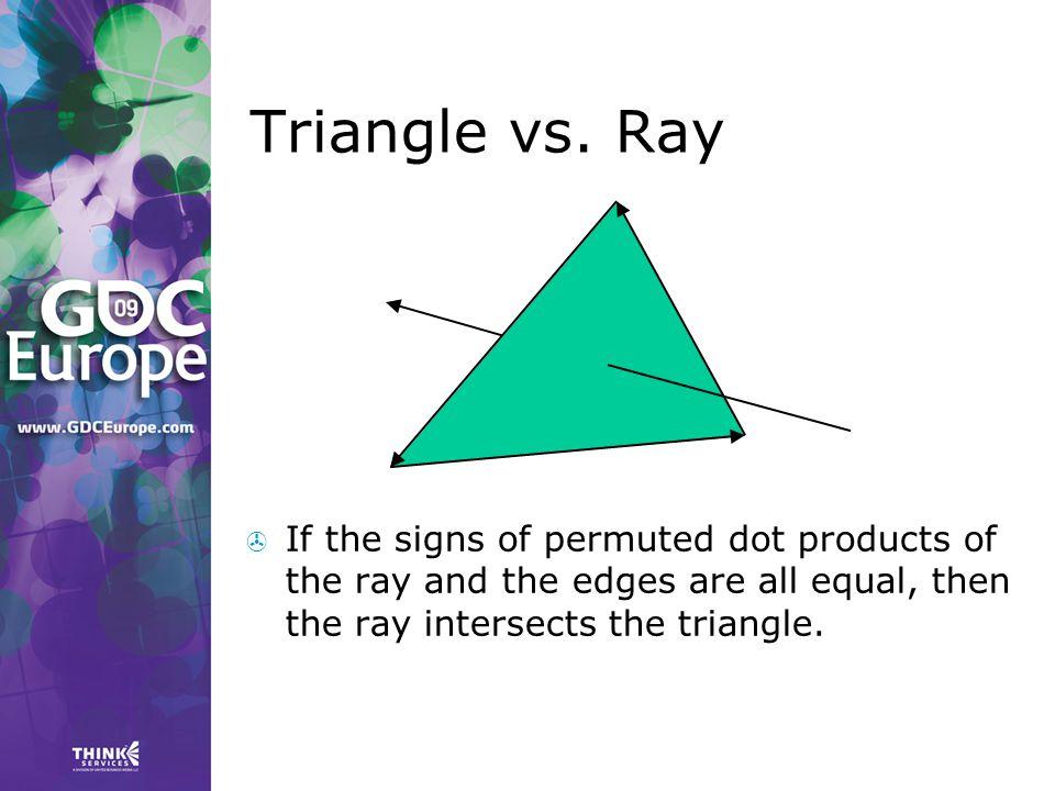 Triangle vs.
