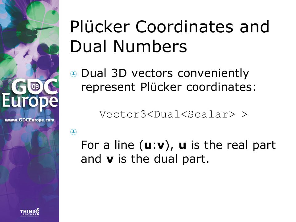 Plücker Coordinates and Dual Numbers