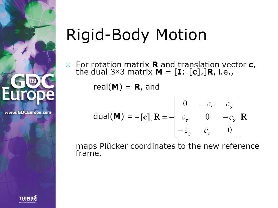Rigid-Body Motion