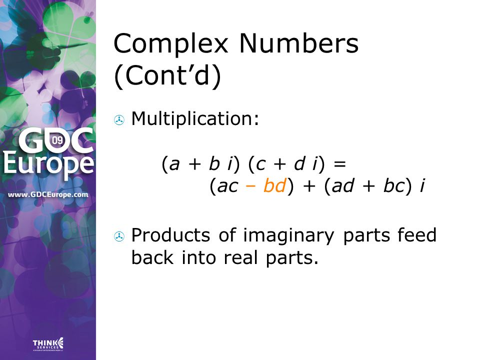Complex Numbers (Cont'd)
