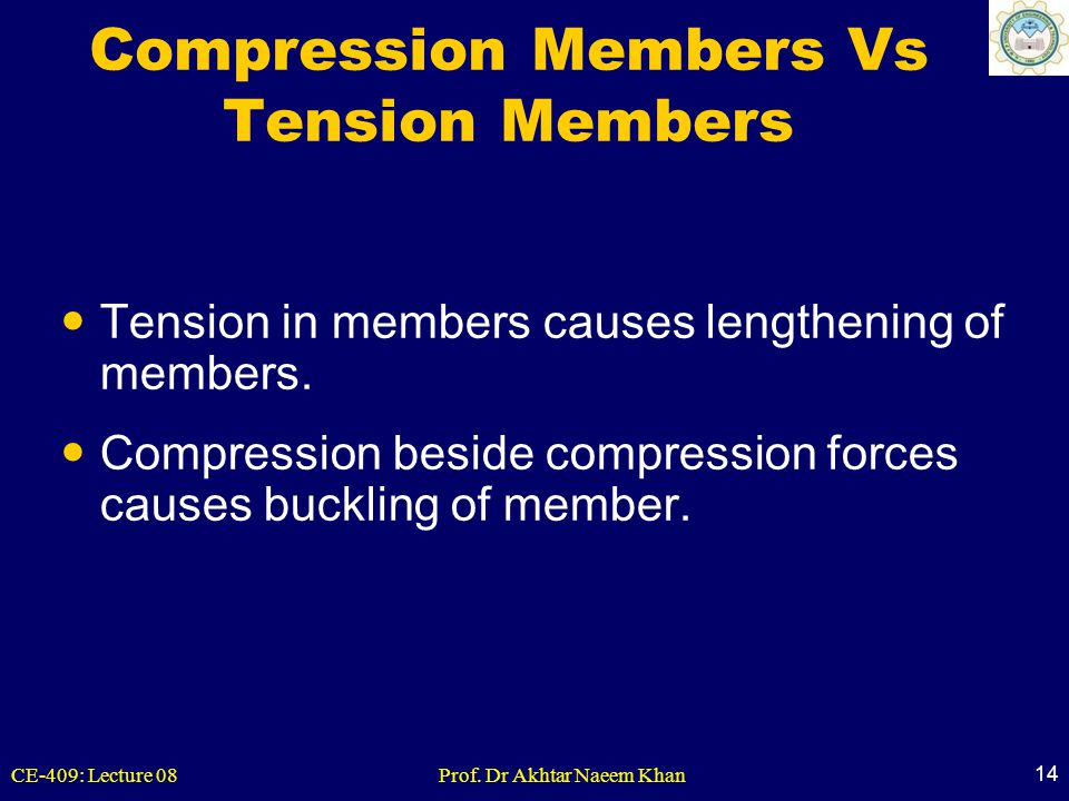 Compression Members Vs Tension Members