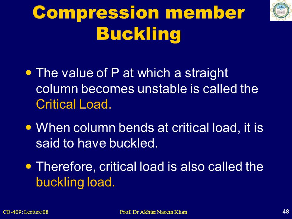 Compression member Buckling