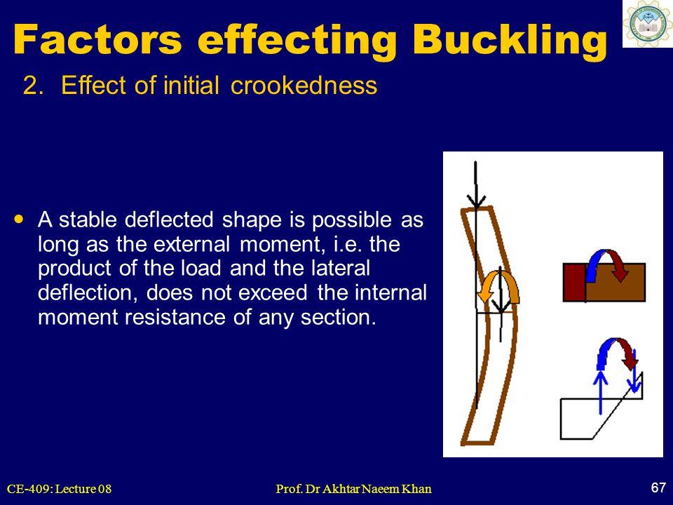 Factors effecting Buckling