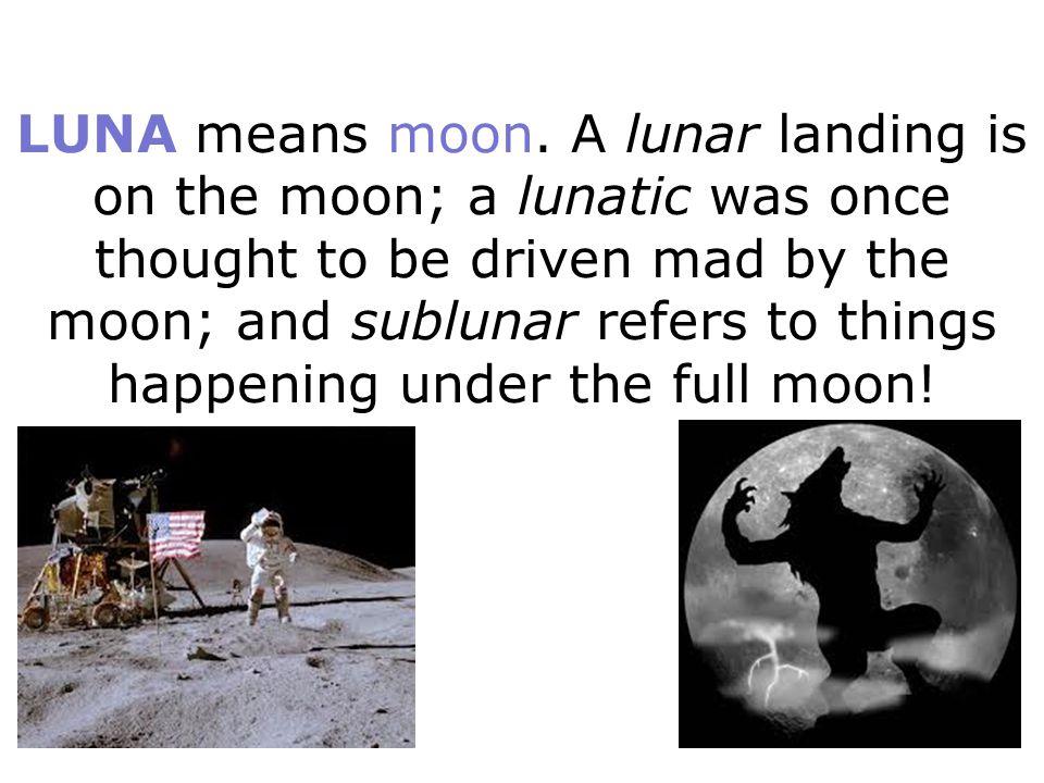 LUNA means moon.