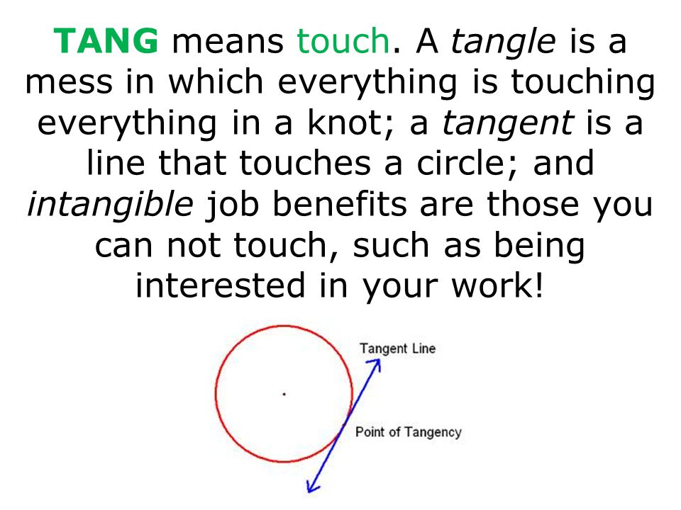 TANG means touch.