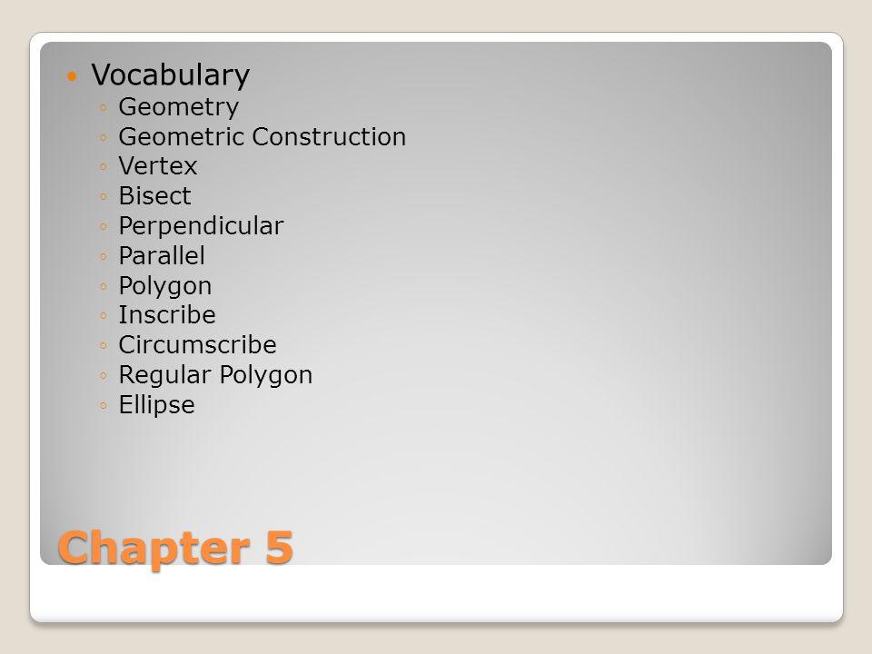 Chapter 5 Vocabulary Geometry Geometric Construction Vertex Bisect