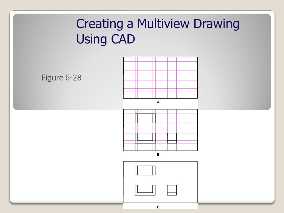 Creating a Multiview Drawing Using CAD