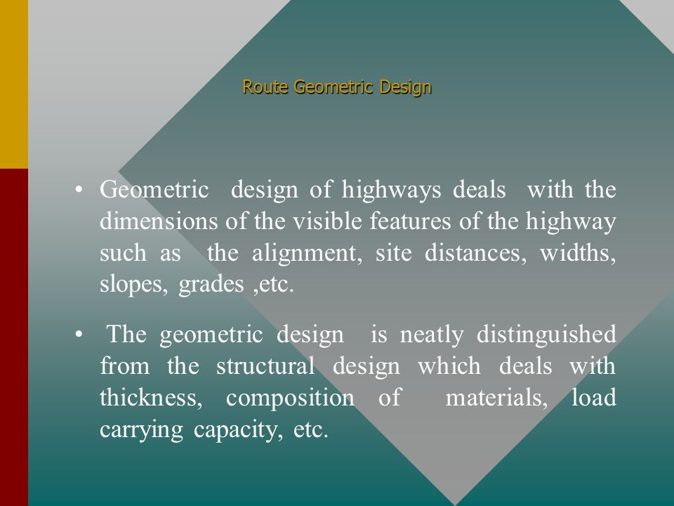 Route Geometric Design