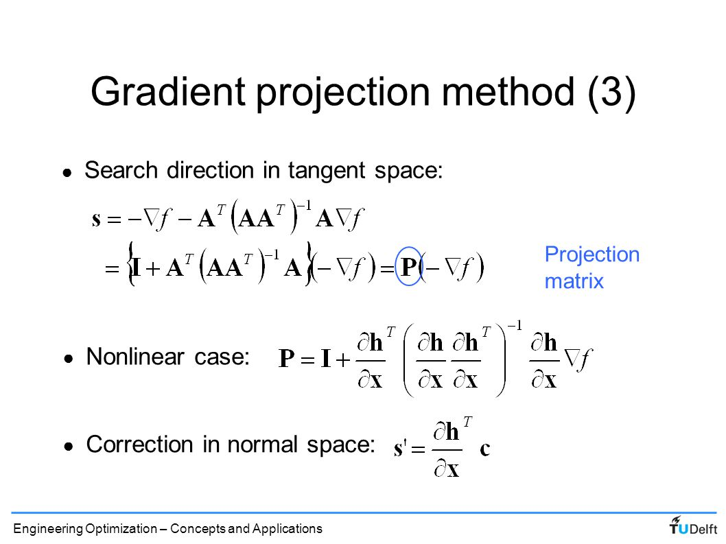 Gradient projection method (3)