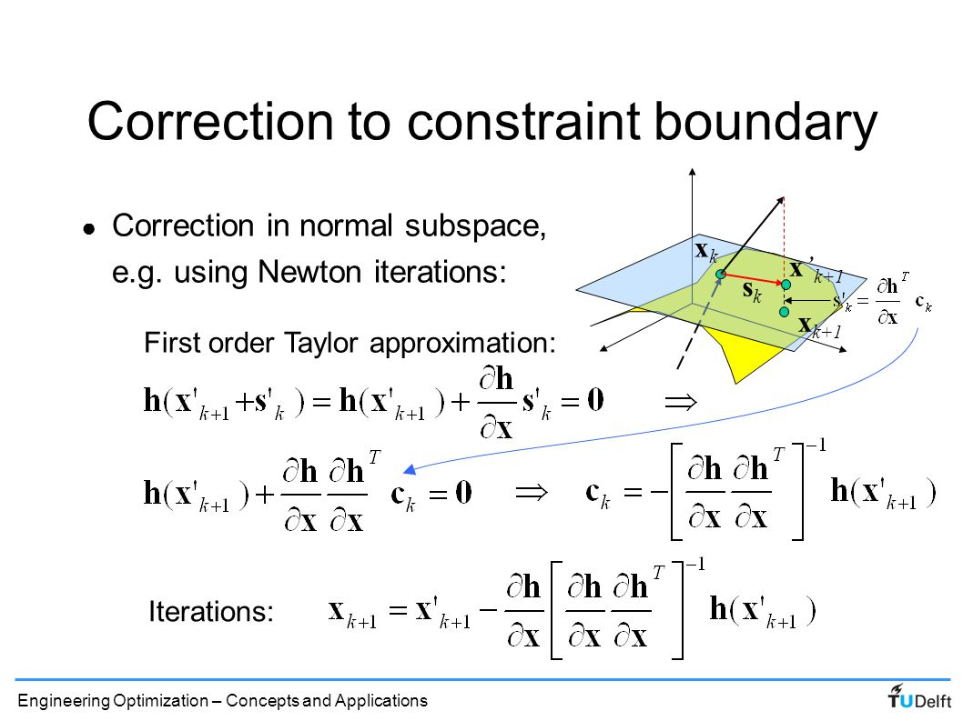 Correction to constraint boundary