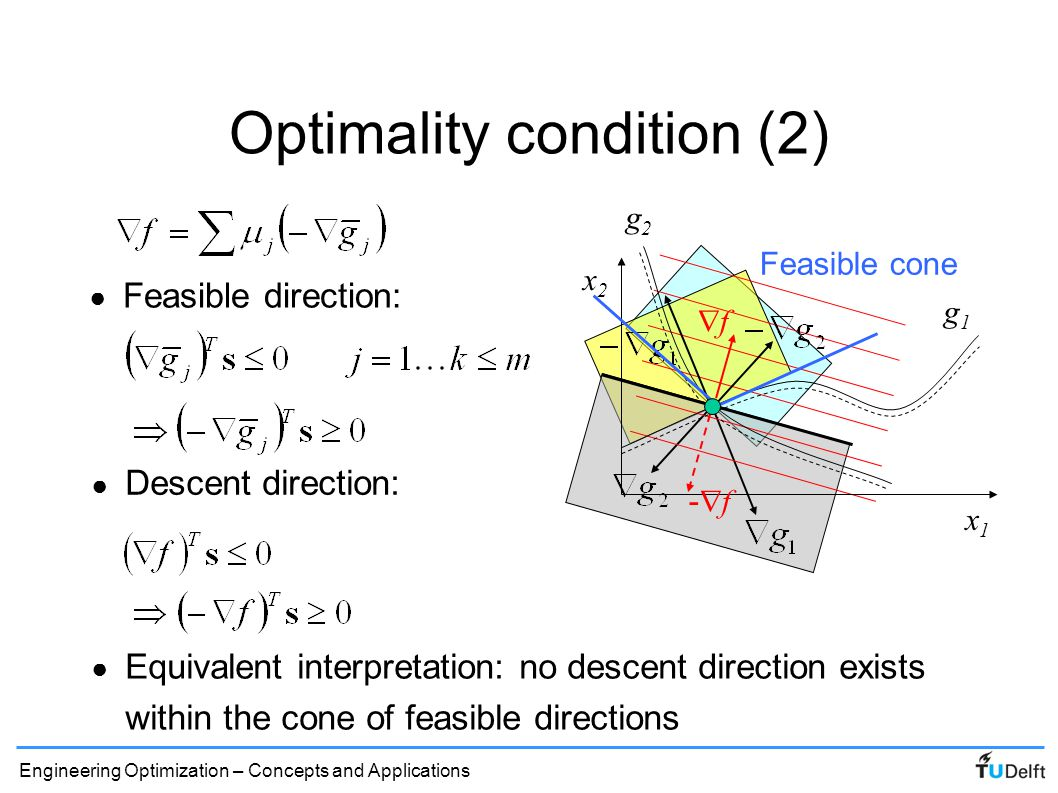 Optimality condition (2)
