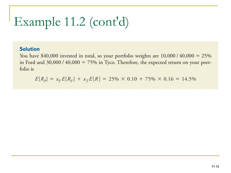 Example 11.2 (cont d)