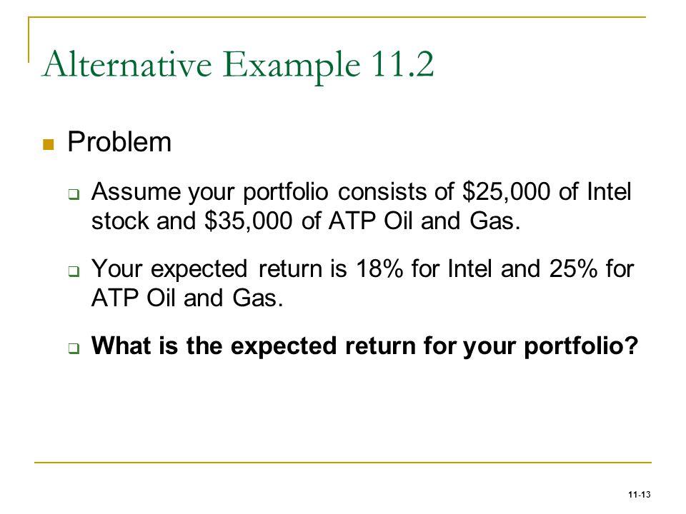 Alternative Example 11.2 Problem