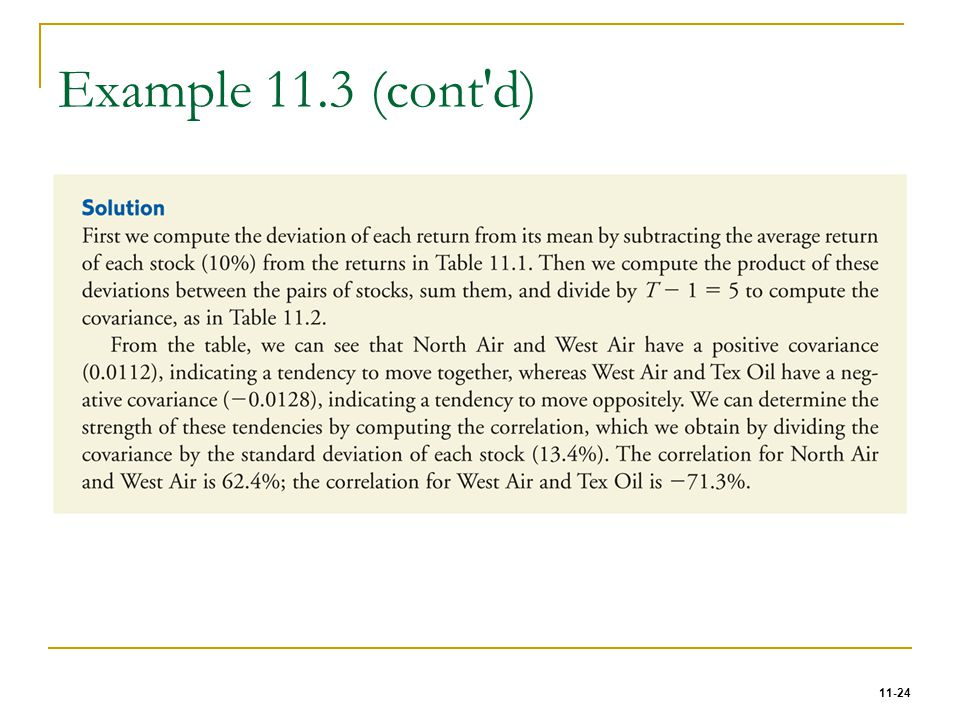Example 11.3 (cont d)