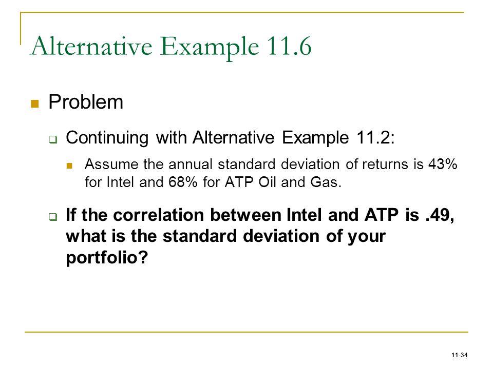 Alternative Example 11.6 Problem