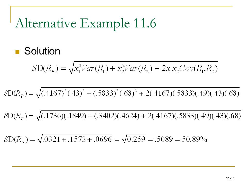 Alternative Example 11.6 Solution 35