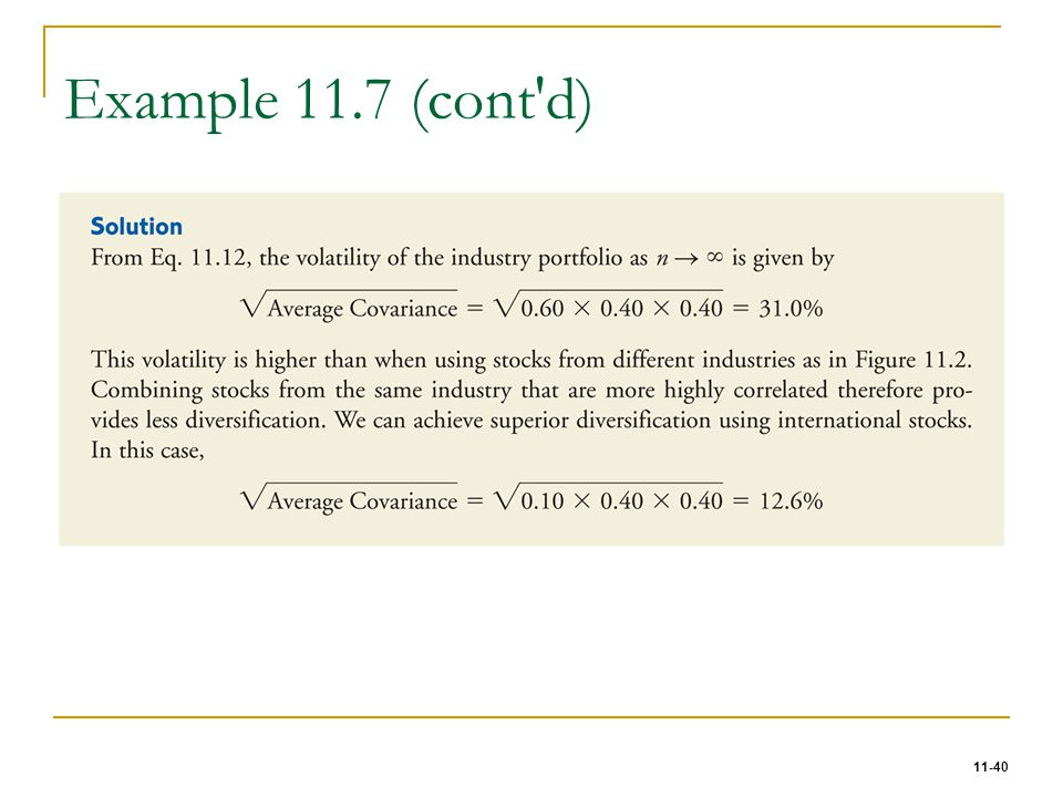 Example 11.7 (cont d)