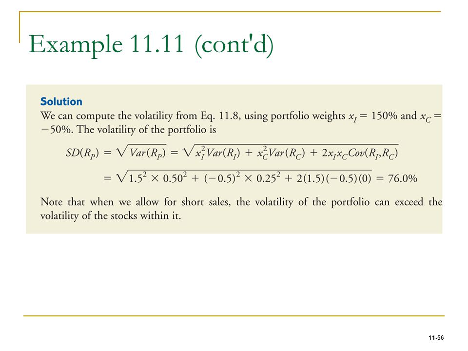 Example 11.11 (cont d)