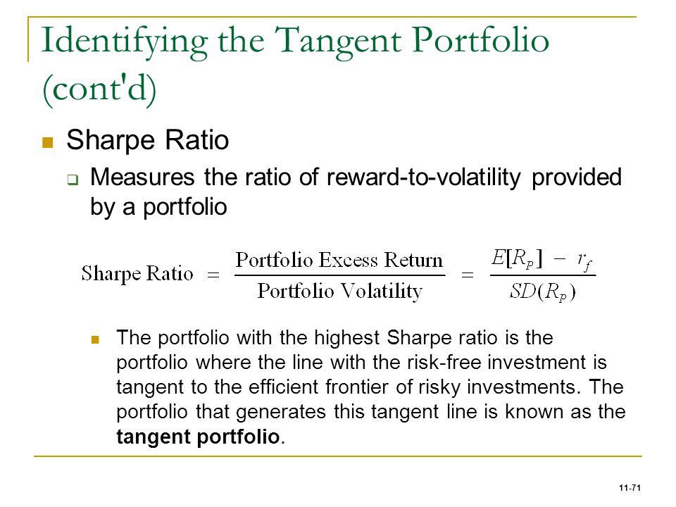 Identifying the Tangent Portfolio (cont d)