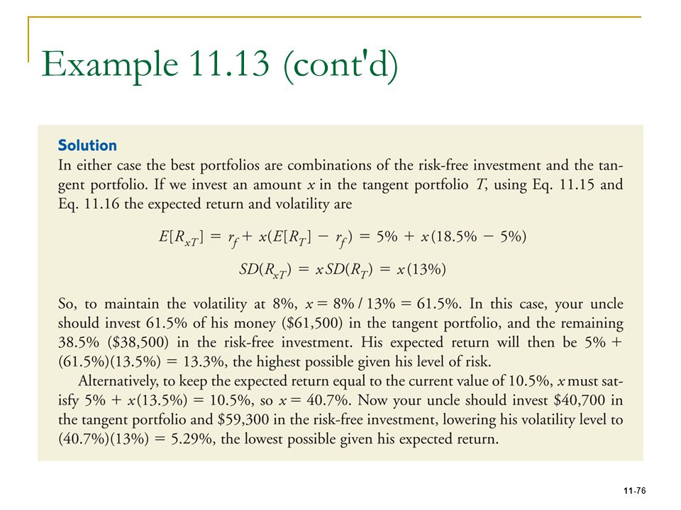 Example 11.13 (cont d)