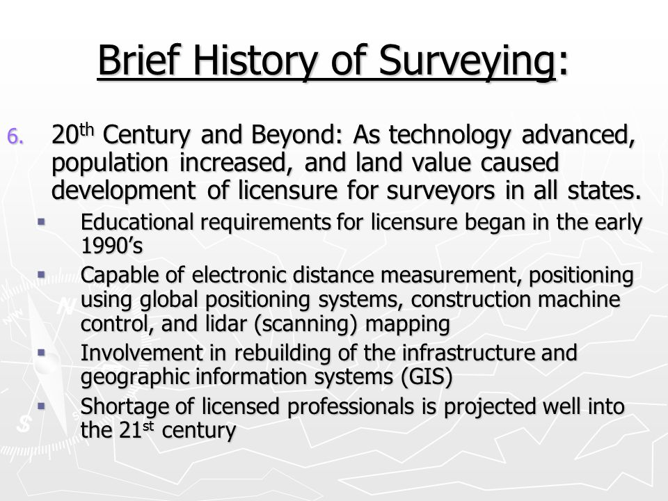 Brief History of Surveying: