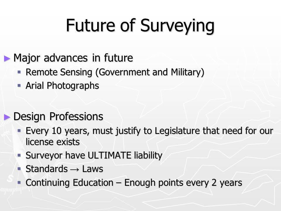 Future of Surveying Major advances in future Design Professions