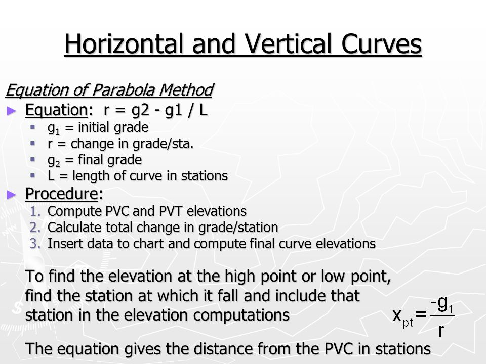 Horizontal and Vertical Curves