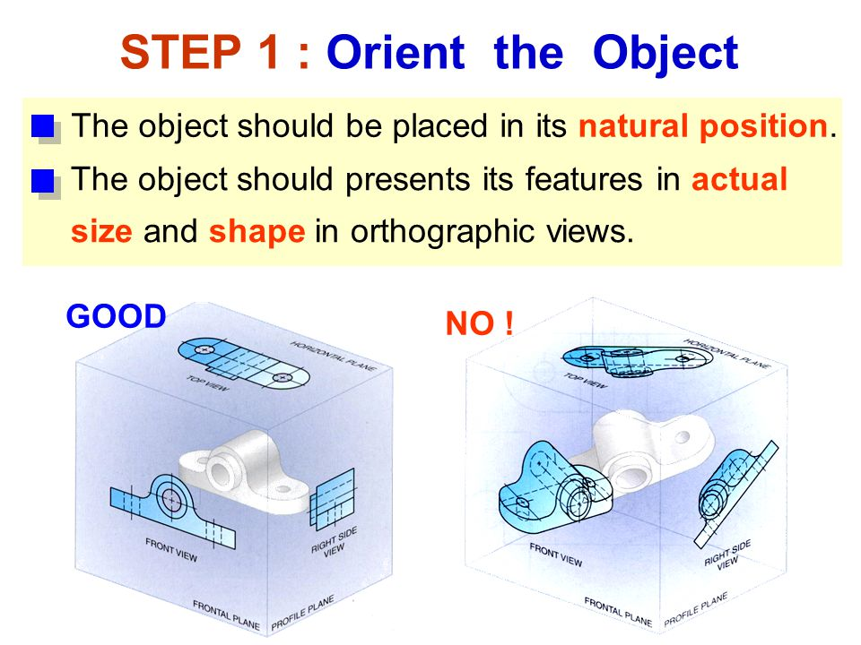 STEP 1 : Orient the Object