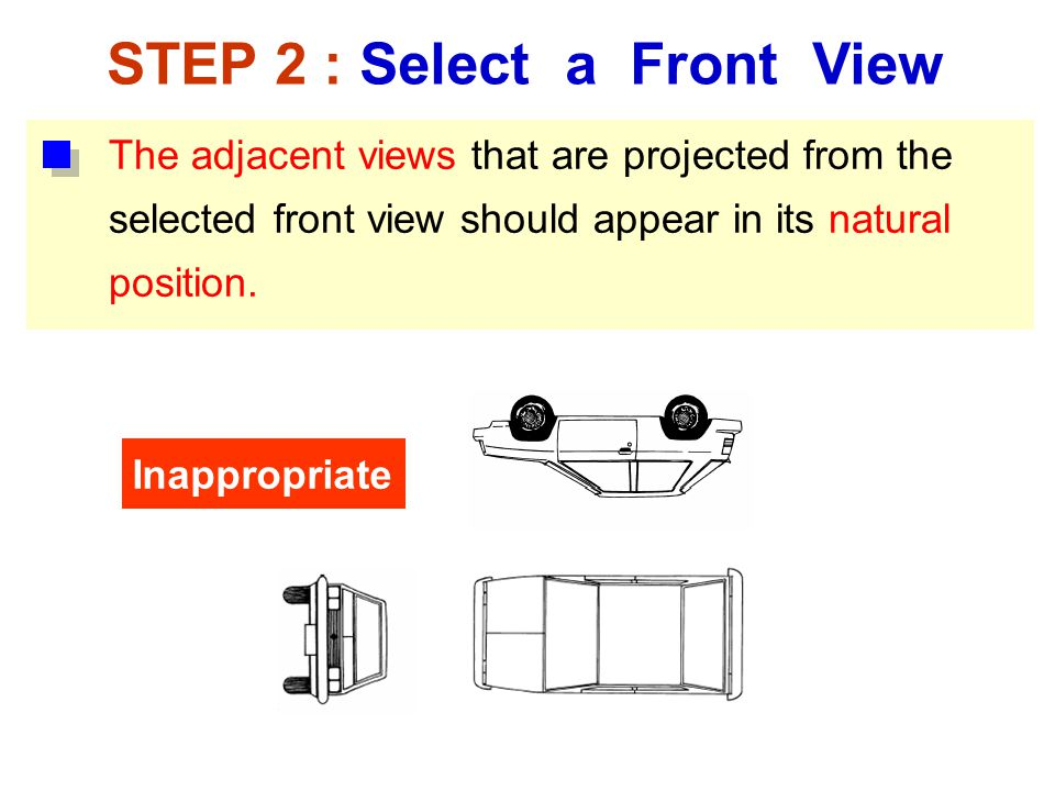STEP 2 : Select a Front View