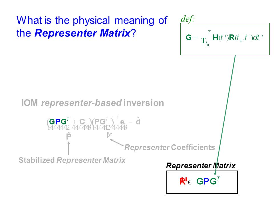 What is the physical meaning of the Representer Matrix
