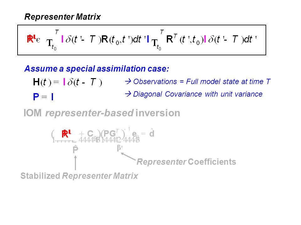 IOM representer-based inversion