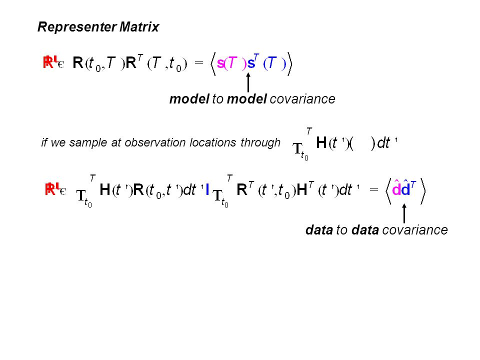 model to model covariance