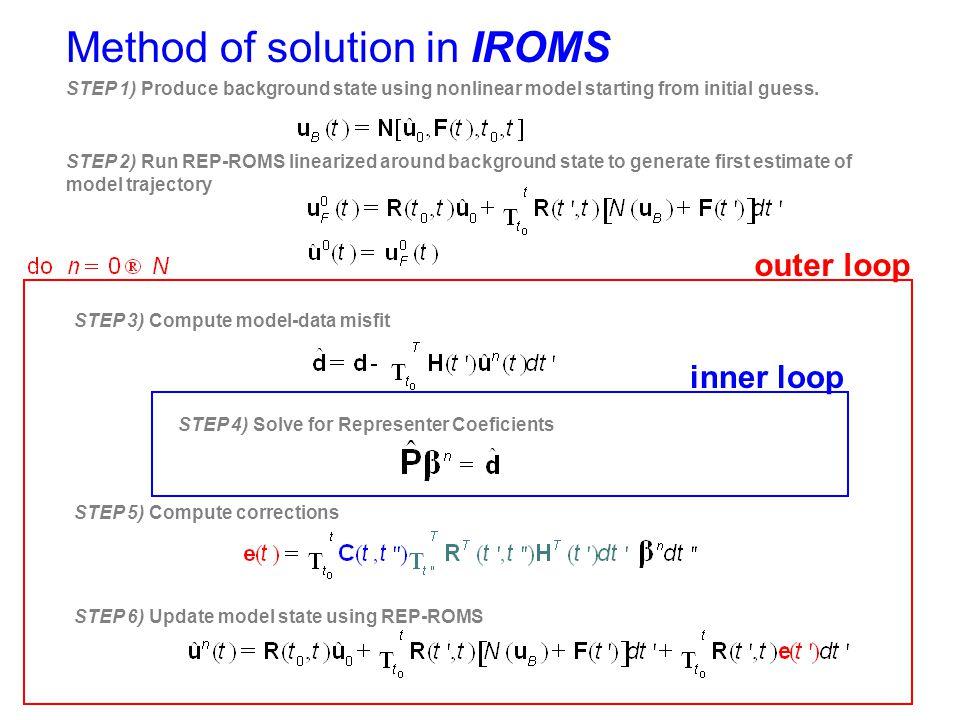 Method of solution in IROMS