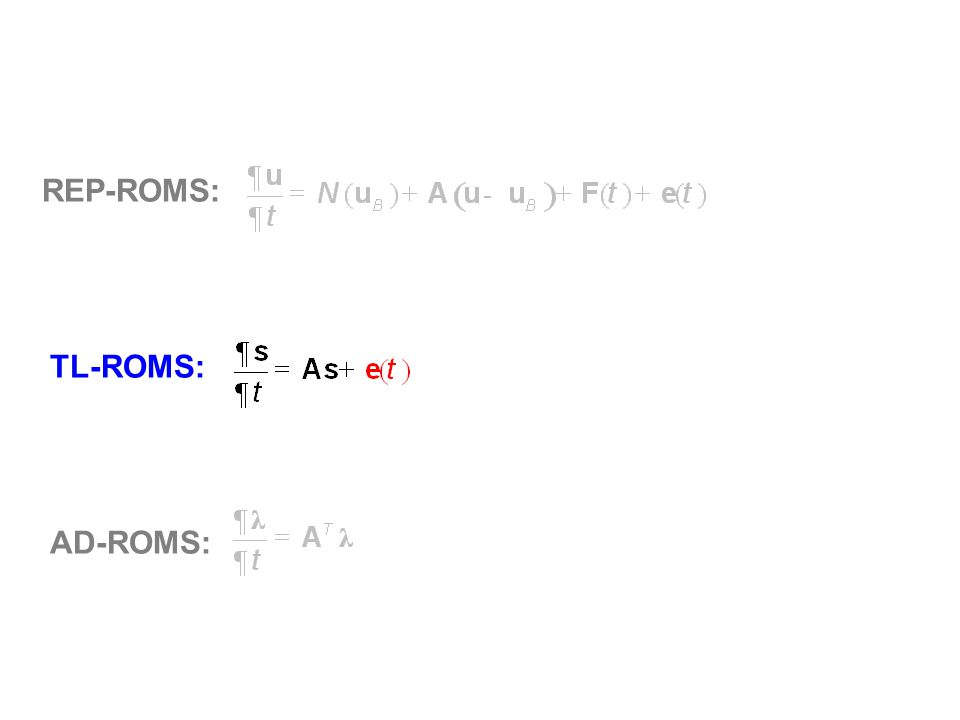 REP-ROMS: TL-ROMS: AD-ROMS:
