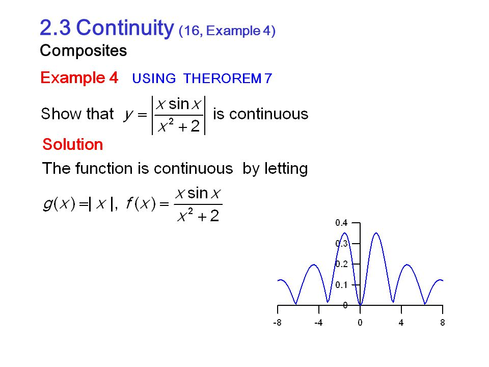 2.3 Continuity (16, Example 4) Composites